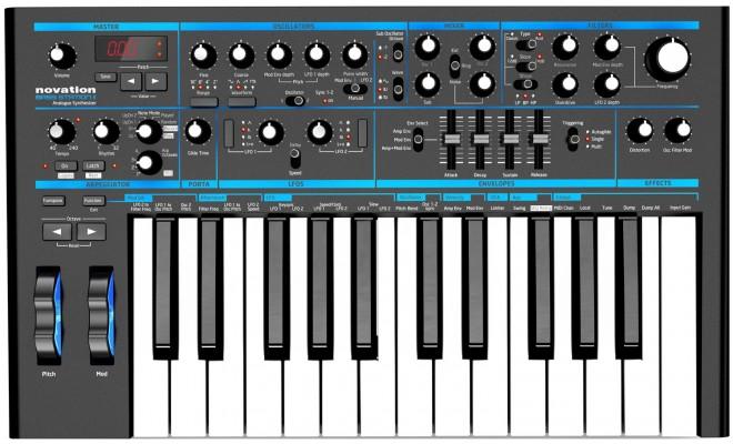 Аналоговый синтезатор Novation Bass Station II: фото